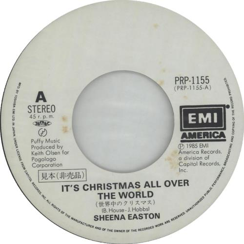 Sheena Easton It's Christmas All Over The World Japanese Promo 7 ...