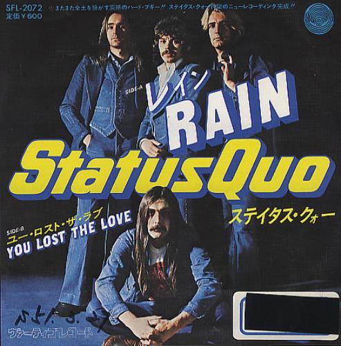 Status Quo Rain Japanese Promo 7 Quot Vinyl Single 7 Inch