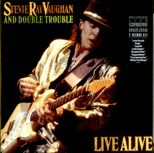 Stevie Ray Vaughan Live Alive Dutch 2 Lp Vinyl Record Set
