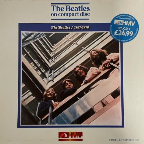 The Beatles 1967 1970 Blue Album Uk Cd Album Box Set