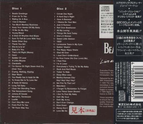 The Beatles Live At The Bbc Japanese Promo 2 Cd Album Set