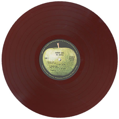 The Beatles Rubber Soul 1st Apple Red Vinyl Amp Obi