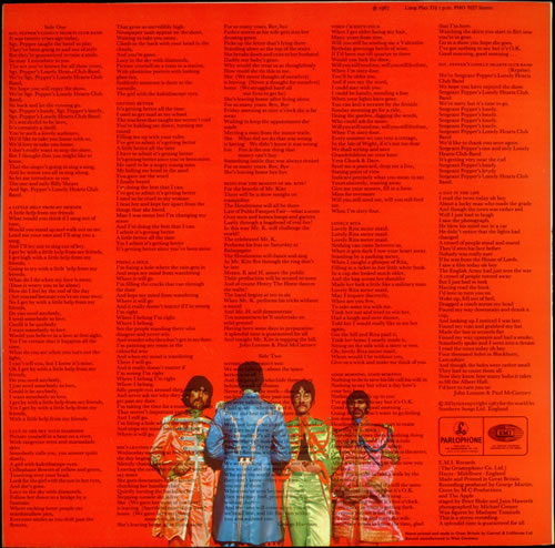 The Beatles Sgt Pepper S Lonely Hearts Club Band Uk