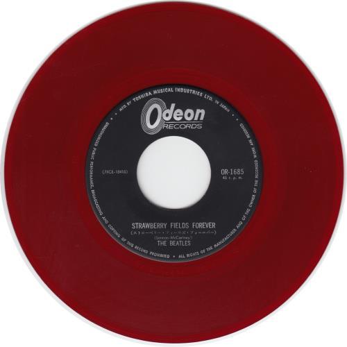 The Beatles Strawberry Fields Forever Red Vinyl Japanese