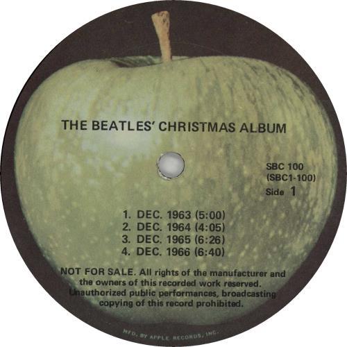 The Beatles The Beatles Christmas Album US Promo vinyl LP album ...