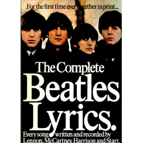 The Beatles The Complete Beatles Lyrics Uk Book 330022
