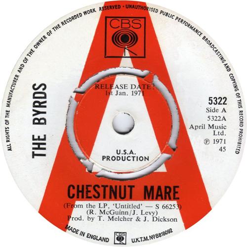 The Byrds Chestnut Mare A Label Uk Promo 7 Quot Vinyl Single