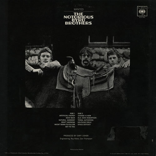 The Byrds The Notorious Byrd Brothers Mono Ex Uk Vinyl