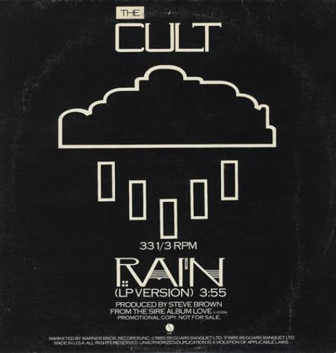 The Cult Rain Us Promo 12 Quot Vinyl Single 12 Inch Record