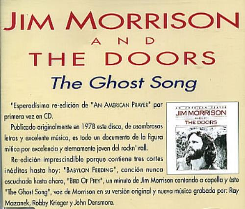 The Doors The Ghost Song CD single (CD5 / 5\