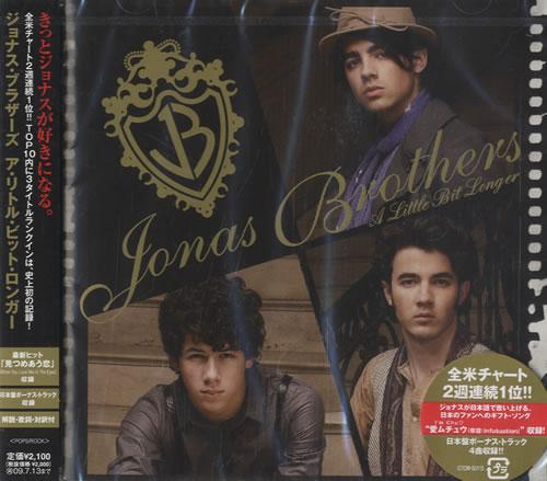 The Jonas Brothers A Little Bit Longer CD album (CDLP) Japanese  TYJCDAL455005