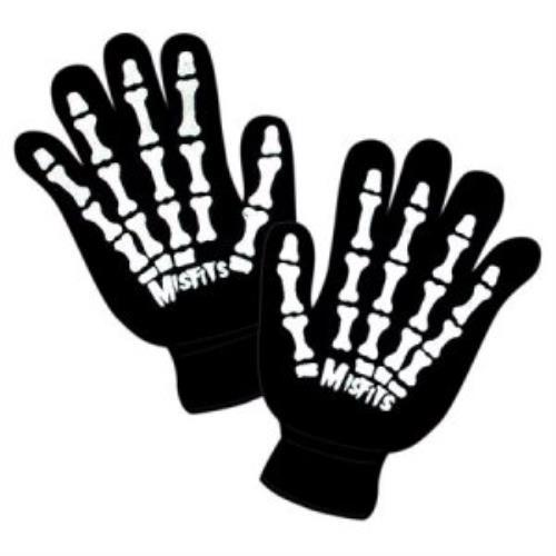 Amazon.com: The Misfits - SKELETON HANDS Knit Gloves, Black ...