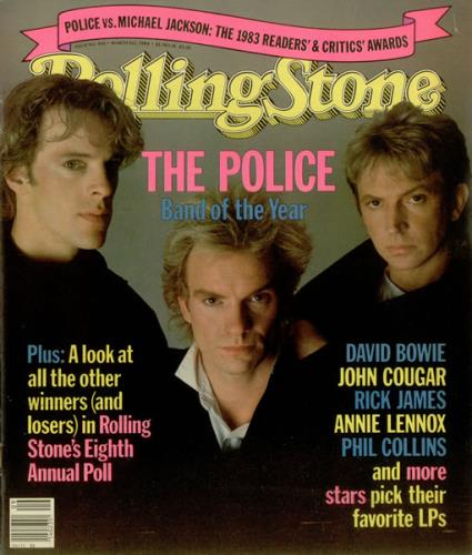The Police Rolling Stone March 1st 1984 Us Magazine