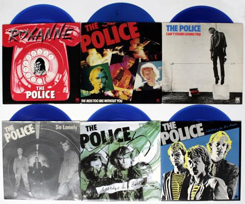 The Police Six Pack Blue Vinyl Ex Uk 7 Quot Vinyl Single