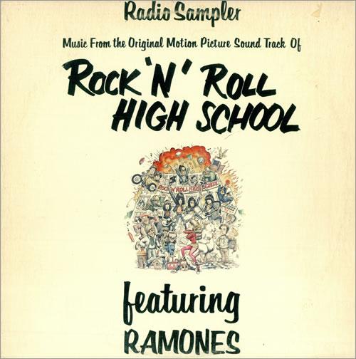 "The Ramones Rock 'N' Roll High School - Radio Sampler 12"" vinyl single"