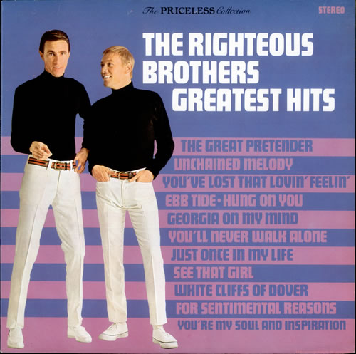 The Righteous Brothers Greatest Hits Canadian Vinyl Lp