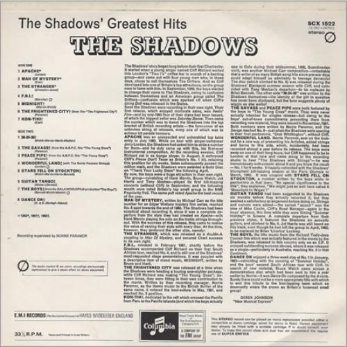 The Shadows Greatest Hits 2 Box Gram Co Text Uk Vinyl