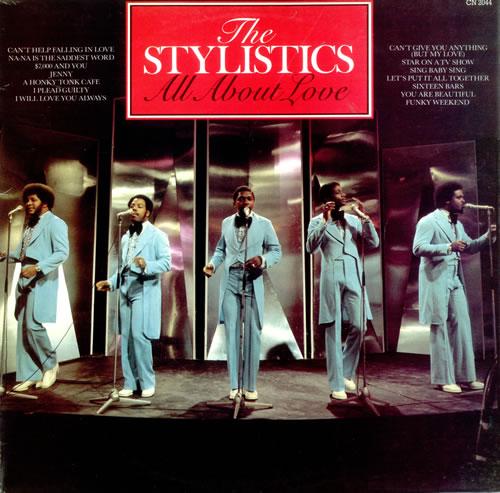 The Stylistics All About Love UK Vinyl LP Album (LP Record