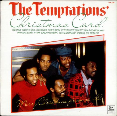 The Temptations Christmas Card UK vinyl LP album (LP record) (523059)