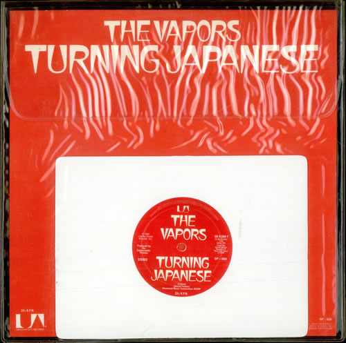 The Vapors Turning Japanese White Vinyl Us Shaped