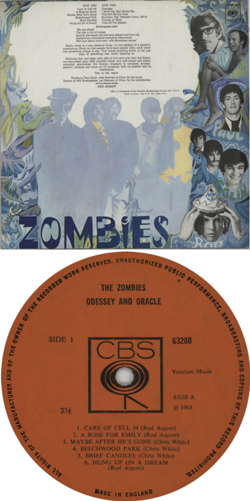 The Zombies Odessey And Oracle 1st Mono Uk Vinyl Lp