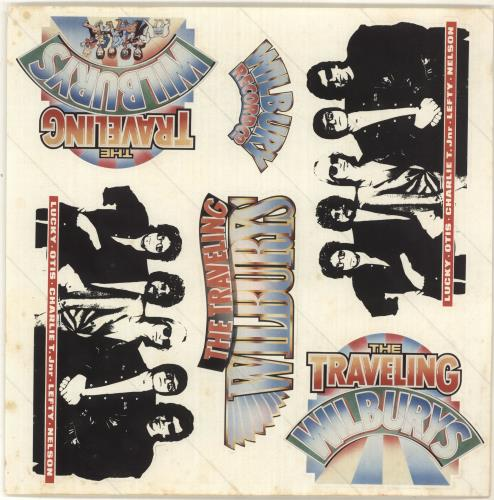 Traveling Wilburys Volume One Sticker Sheet Uk Vinyl Lp