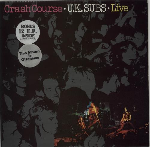 U K Subs Crash Course Purple Vinyl 12 Quot Ep Uk Vinyl Lp