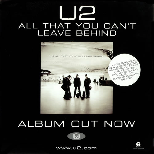 U2 All That You Can T Leave Behind Uk Promo Poster 196152