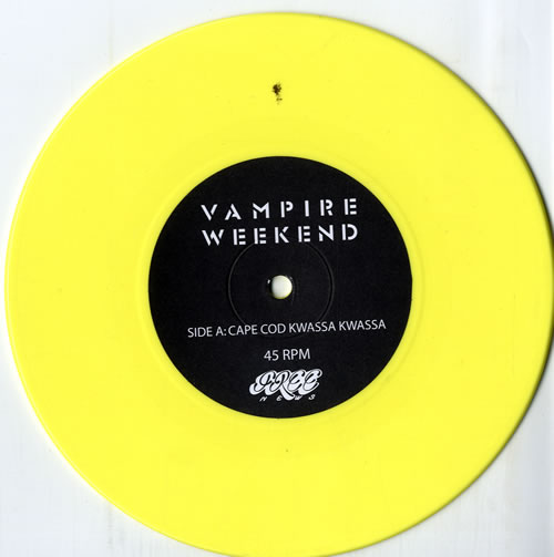 Vampire Weekend Cape Cod Kwassa Kwassa / A-Punk US 7