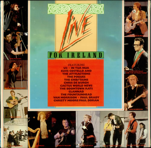 Various Artists Live For Ireland Sealed Us Vinyl Lp