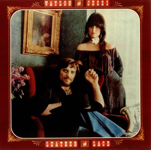 Waylon Jennings Leather And Lace Uk Vinyl Lp Album Lp