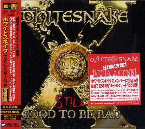 Whitesnake Still Good To Be Bad Japanese Promo 2-disc CD ...