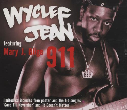 "Wyclef Jean Wyclef Wyclef Jean Wyclef Jean Wyclef: Wyclef Jean 911 Nine One One UK CD Single (CD5 / 5"") (390154"