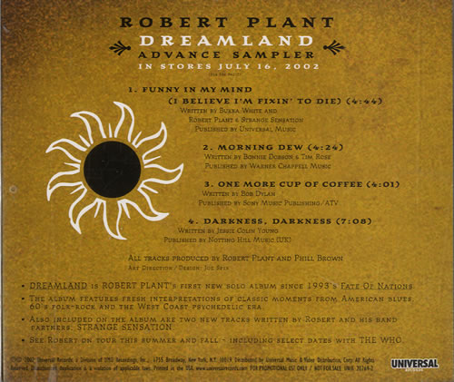 Robert Plant Dreamland Records Lps Vinyl And Cds