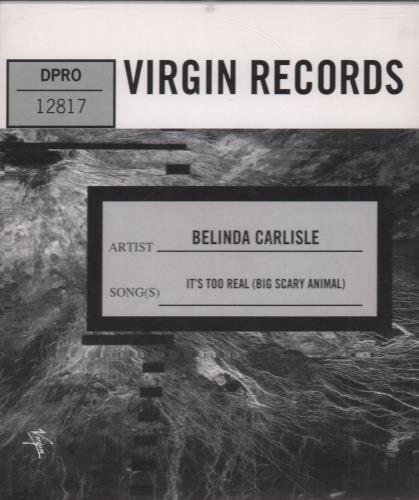 Click to view product details and reviews for Belinda Carlisle Its Too Real Big Scary Animal 1993 Usa Cd Single Dpro 12817.