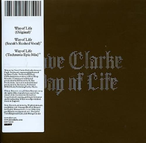 Click to view product details and reviews for Dave Clarke Way Of Life 2003 Uk Cd Single Skint93cd.