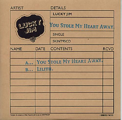 Lucky Jim You Stole My Heart Away 2004 Uk Cd Single Skint95cd
