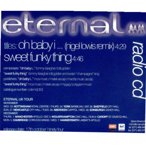 Click to view product details and reviews for Eternal Oh Baby I 1994 Uk Cd Single Cdemdj353.