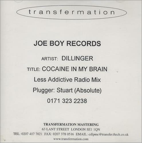 Click to view product details and reviews for Dillinger Cocaine In My Brain Less Addictive Radio Mix 2000 Uk Cd R Acetate Cd R Acetate.