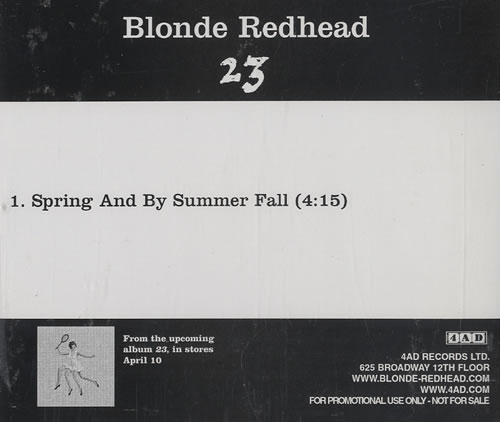 Blonde redhead spring bbby summers fall