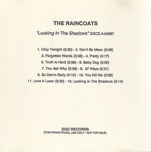 Raincoats Records Lps Vinyl And Cds Musicstack