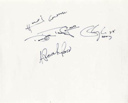 Click to view product details and reviews for Roachford Autographed Sheet Uk Memorabilia Autograph.