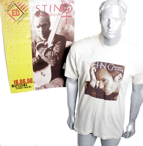 CHEAP Sting Mercury Falling – Warsaw 1996 1996 Polish t-shirt T-SHIRT & POSTER 25209856007 – General Clothing