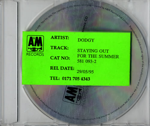 Click to view product details and reviews for Dodgy Staying Out For The Summer 95 Reference Cd 1995 Uk Cd Single Dodcd95.