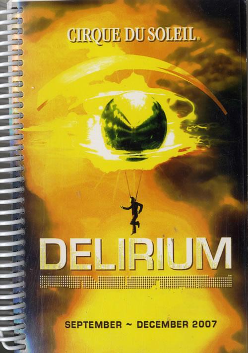 CHEAP Cirque Du Soleil Delirium – Sept-Dec 2007 & Jan-Mar 2008 2007 UK Itinerary TWO ITINERARIES 25209880479 – General Clothing