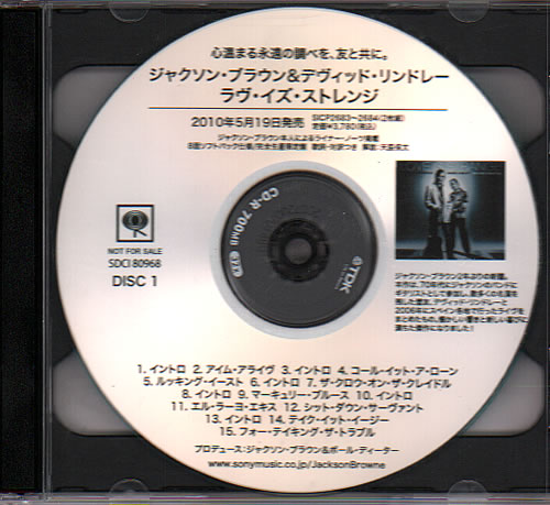 Click to view product details and reviews for Jackson Browne Love Is Strange En Vivo Con Tino 2010 Japanese Cd R Acetate Cd R Acetate.