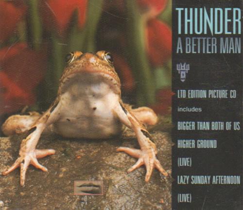 Thunder A Better Man Picture 1993 Dutch Cd Single 8804652