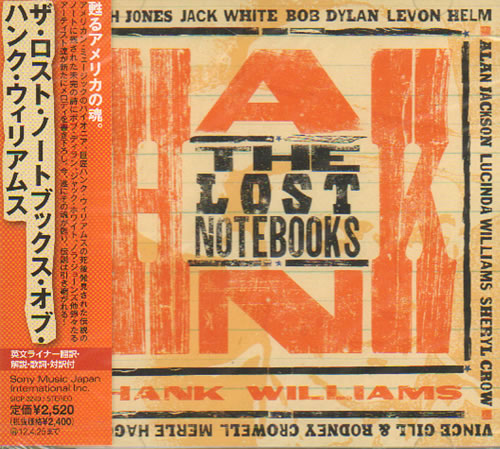 Various Artists The Lost Notebooks Of Hank Williams Sealed 2011 Japanese Cd Album Sicp3240