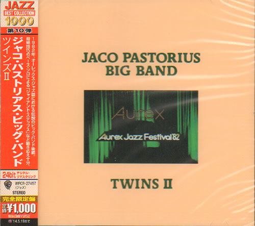 Jaco Pastorius Aurex Jazz Festival 82 Twins Ii Sealed 2013 Japanese Cd Album Wpcr 27457