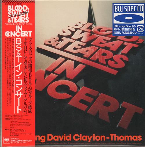 Blood Sweat Tears In Concert 2012 Japanese 2 Cd Album Set Sicp204356